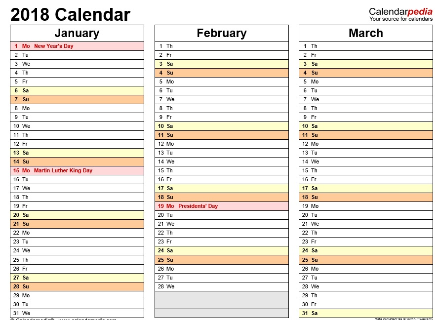 Calendar Vertical List : Free sample printable calendar templates for