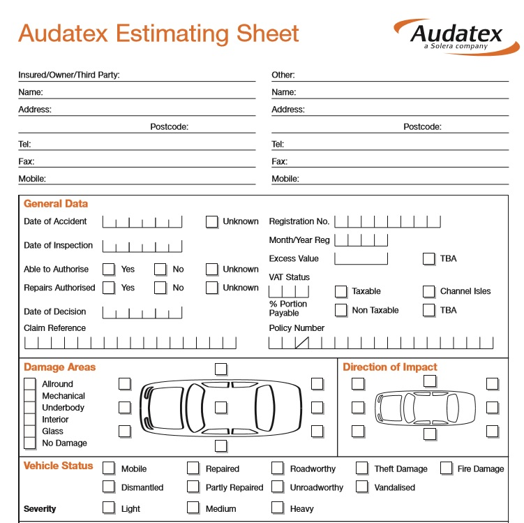 Free Sample Auto Repair Quotation Templates  Printable Samples
