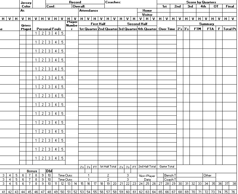 8 Free Sample Basketball Score Sheet Samples Printable Samples – Wrestling Score Sheet