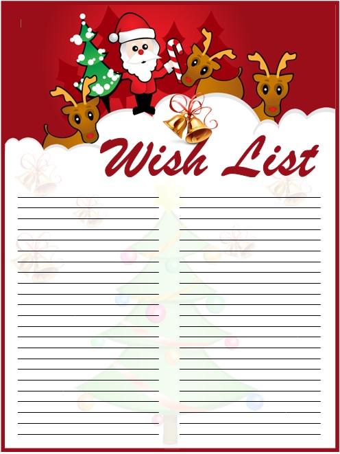 9 Free Sample Holiday Wish List Templates - Printable Samples