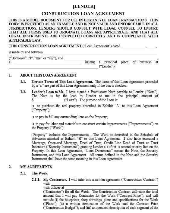 here is preview of another sample housing loan contract template in pdf format