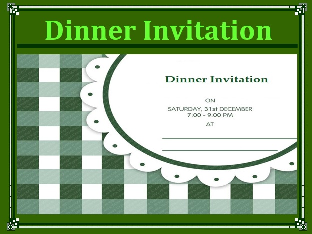 8 Free Sample Dinner Party Invitation Templates  Dinner Invitation Templates Free