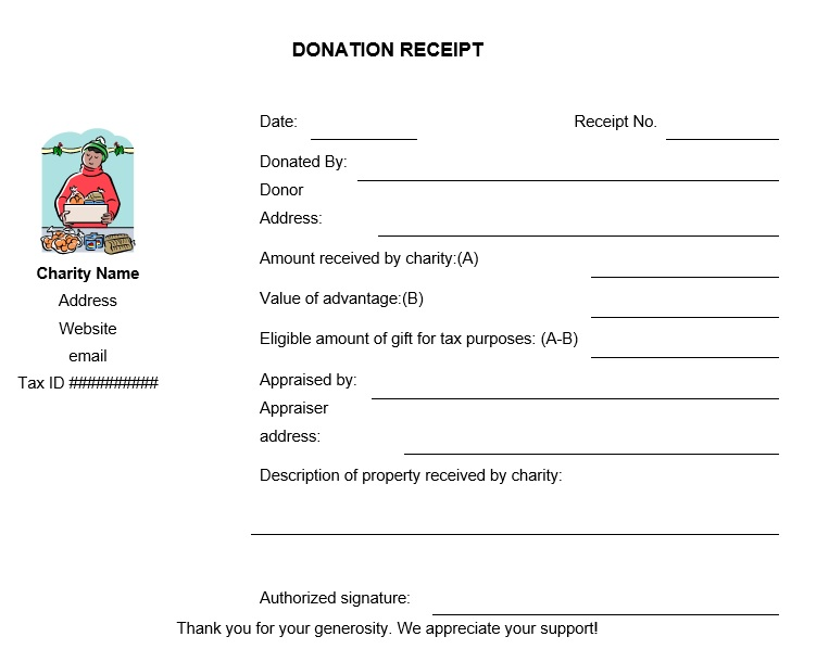 12 Free Sample Donation Contribution Receipt Templates - Printable ...