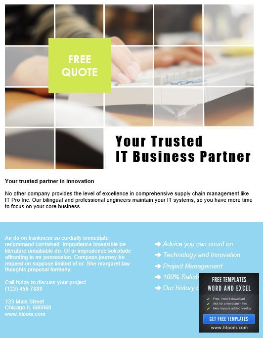 11 free sample business flyer templates