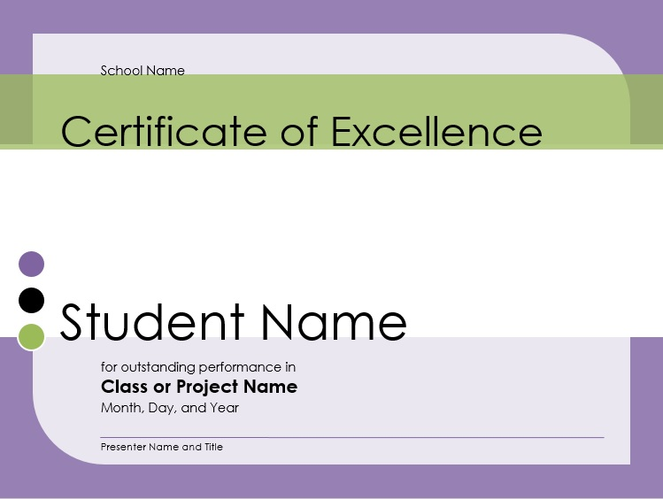 certificate format for project