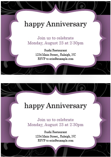 9 free sample anniversary party invitation templates printable samples here is preview of this first sample anniversary party invitation template created using ms word stopboris Gallery
