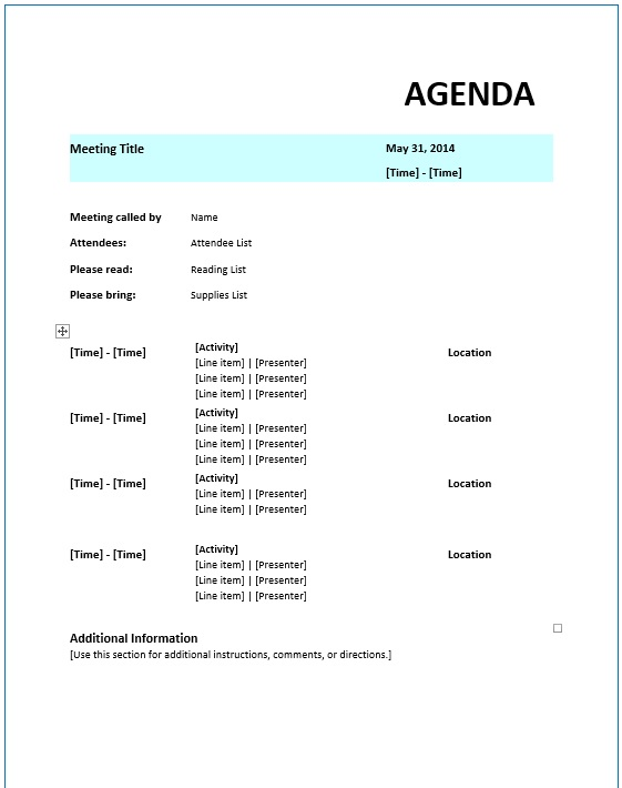 Attendee List Template