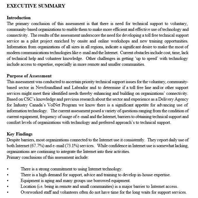Report Executive Summary Sip Report Executive Summary  Executive