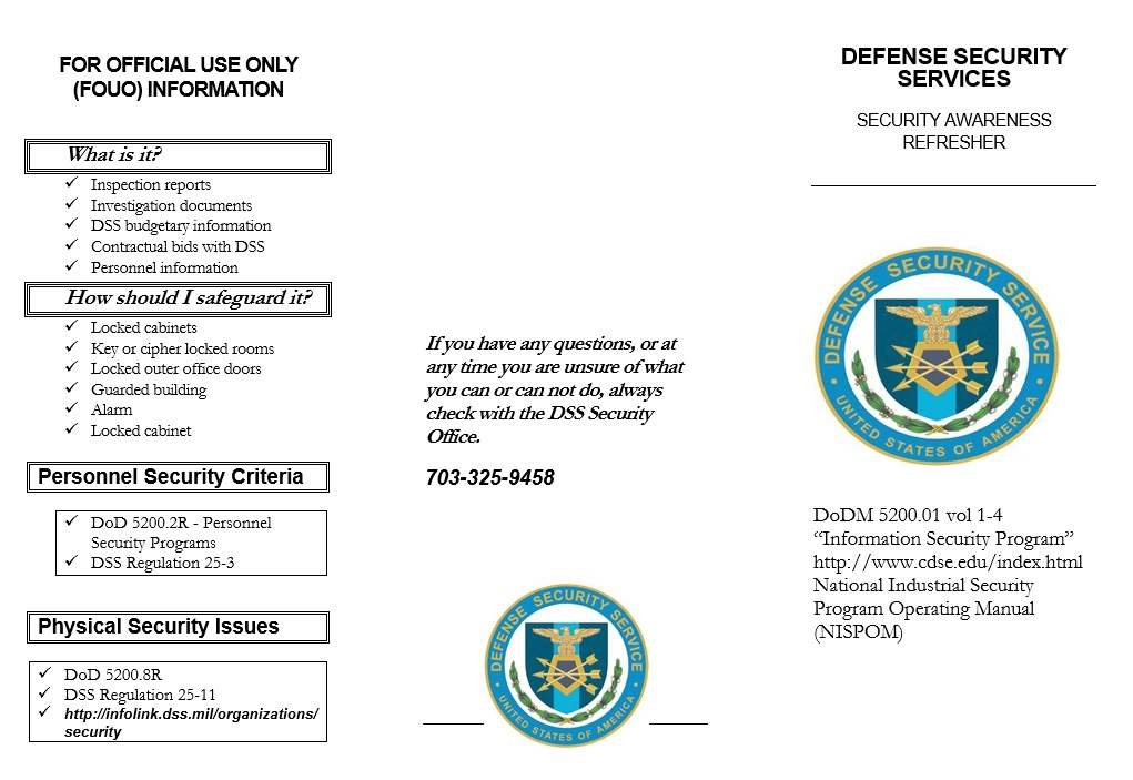 10 Free Sample Security Brochure Templates – Printable Samples
