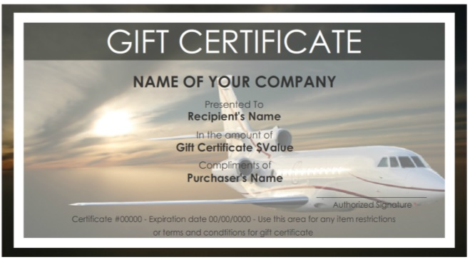 7 free sample travel gift certificate templates