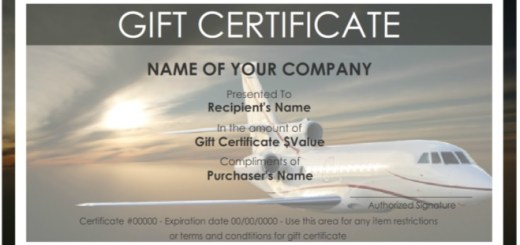 Certificate templates archives printable samples 7 free sample travel gift certificate templates yadclub Choice Image