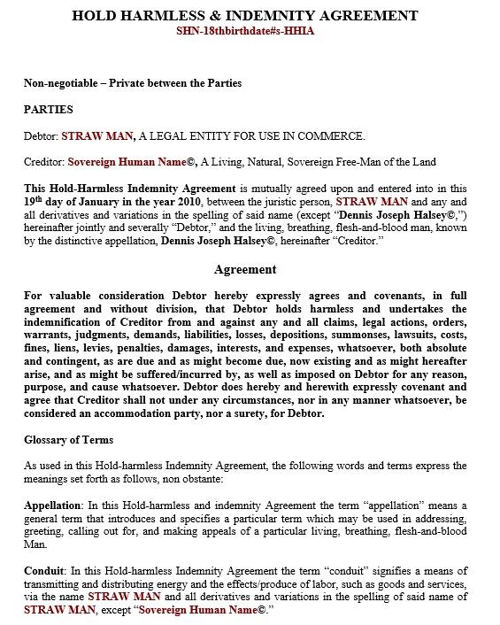 10 Free Sample Indemnity Agreement Templates Printable Samples