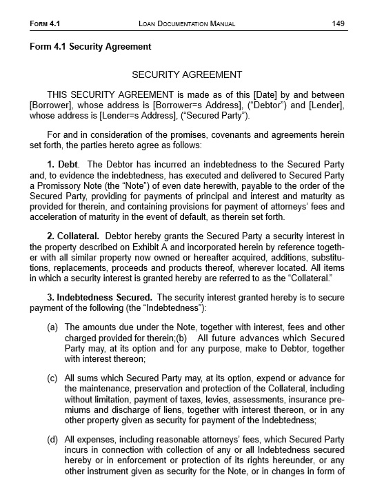 10 Free Sample Security Agreement Templates Printable Samples