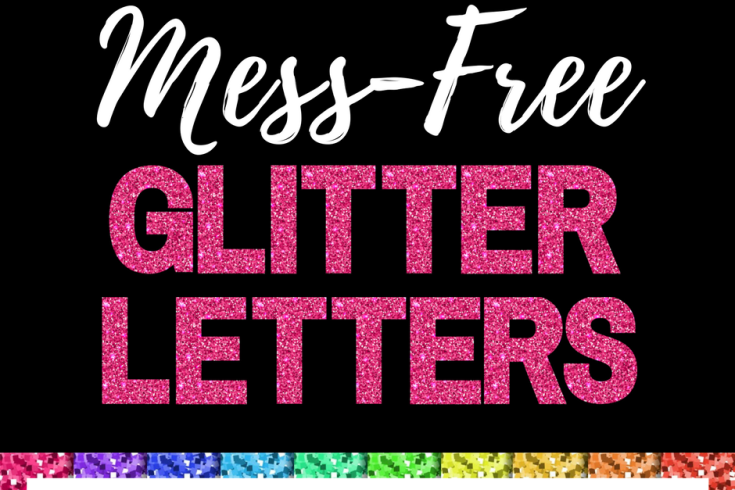 FREE PRINTABLE GLITTER LETTERS PLUS FREE DIGITAL PAPER