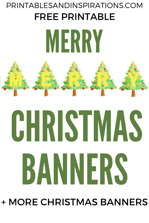 photo relating to Christmas Decor Printable referred to as Cost-free Printable Merry Xmas Banners! - Printables and