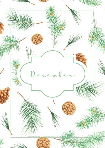 December bullet journal printable - christmas trees, evergreen, free printable planner for December #freeprintable #printablesandinspirations #Christmas #bulletjournal #planneraddict #bujoideas