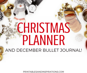 December bullet journal and Christmas planner | December calendar and monthly planner | free printable planner