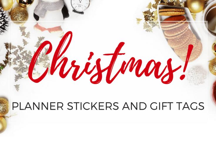 Free Printable Christmas planner stickers | planner printables | Christmas gift tags