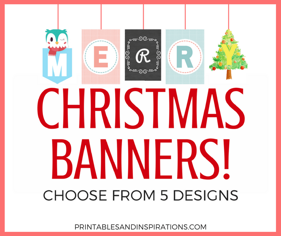 photograph about Printable Merry Christmas Banner identify Albert Mae, Creator at Printables and Inspirations - Website page 2
