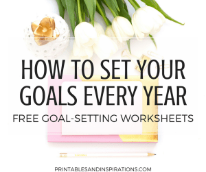 goal setting worksheets   life goals   monthly planner   future log   habits of successful people