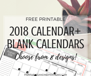 2018 calendar   free printable monthly planner   printable calendar   2018 planner