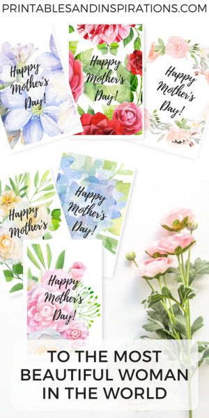 free printable mothers day cards, Mother's Day greeting card free printable, mothers day gifts, floral greeting card design