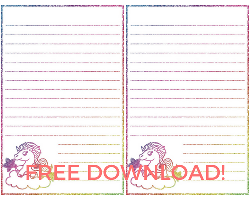 Free Rainbow Unicorn Stickers Printable Labels Super Cute