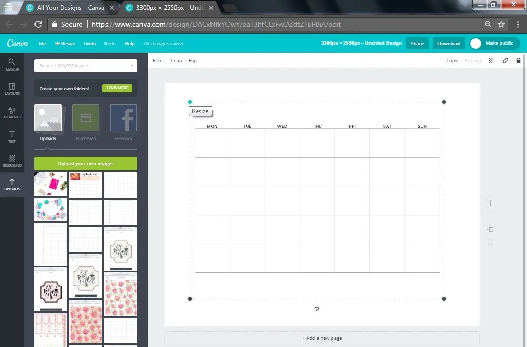 How To Make A Calendar Or Planner Using Canva Printables And