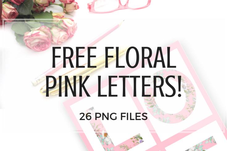 Free Printable Floral Letters #freeprintable #printablesandinspirations #floral #pink