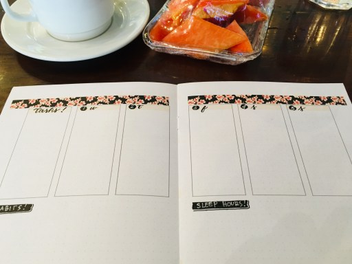 Bullet journal weekly spread layout ideas - free printable cherry blossoms planner pages. #diyplanner #freeprintable #printablesandinspirations #bulletjournal #bujoideas #weeklyspread #cherryblossoms #sakura