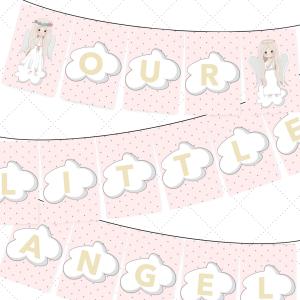 angel printable letters, DIY banner, free printable banner, mini buntings, banner design