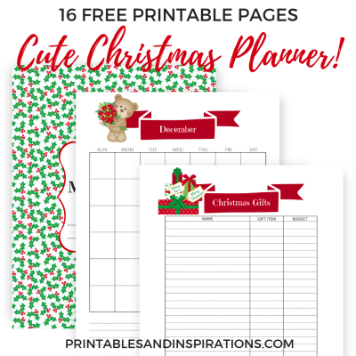 December Bullet Journal And Christmas Planner Free Printable