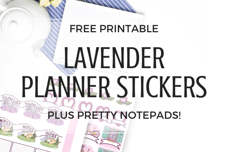FREE Cute Lavender Planner Stickers Printable! Download your free printable planner stickers in purple, lavender and pink colors. #freeprintable #plannerstickers #printablesandinspirations