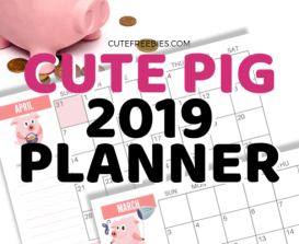 Cute planner for 2019