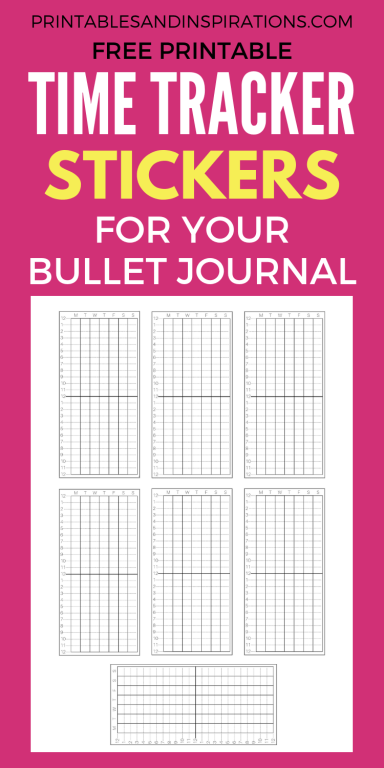 Free Printable Time Tracker For Your Bullet Journal Printables And Inspirations