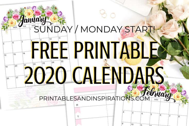 Printables and Inspirations - Free printable calendar