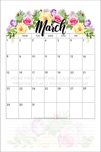 march-2020-calendar-roses October Newsletter Template Free Download on frog themed classroom, for november, family blank, for toddler room,