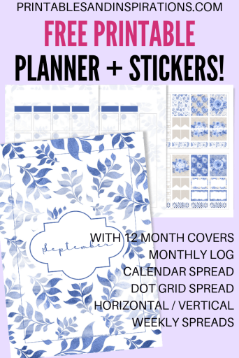 Free Printable Planner Monthly With Stickers - Get a new free printable planner PDF every month. #freeprintable #planneraddict #plannerlover #printablesandinspirations #bulletjournal