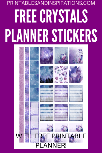 Free Printable Crystals Planner Stickers! These may be used as Erin Condren planner stickers or Happy planner stickers! With free printable planner. Download now! #crystals #freeprintable #plannerstickers #planneraddict #printablesandinspirations