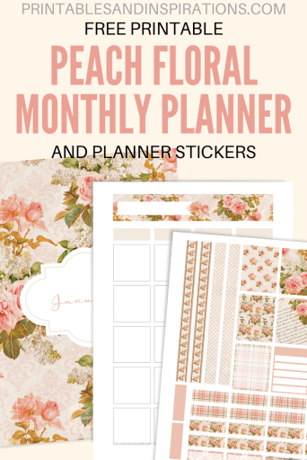 Free Printable Fall Planner Stickers And Bullet Journal - Fall planner stickers, Erin Condren and Happy Planner stickers, free printable weekly planner in horizontal and vertical layout. #freeprintable #fall #peach #floral #printablesandinspirations #plannerstickers #planneraddict #bulletjournal #bujo