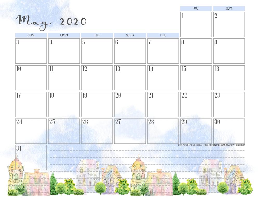 May 2020 calendar - stay home #stayhome #freeprintable #printablesandinspirations