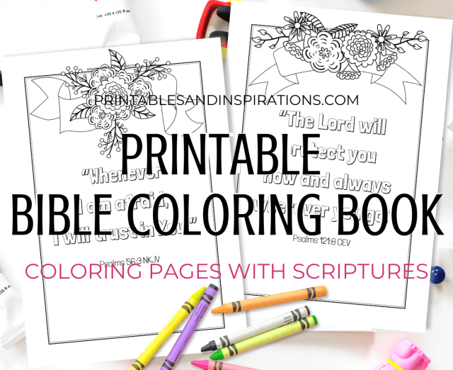 Free Printable Bible Verse Coloring Book Pages - Printables and