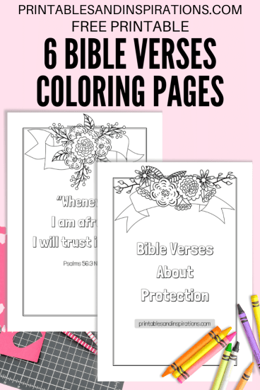 Free Printable Bible Verse Coloring Book - Bible verses coloring pages for kids and adults. Free download now! #lifeverse #freeprintable #bibleverseoftheday #printablesandinspirations