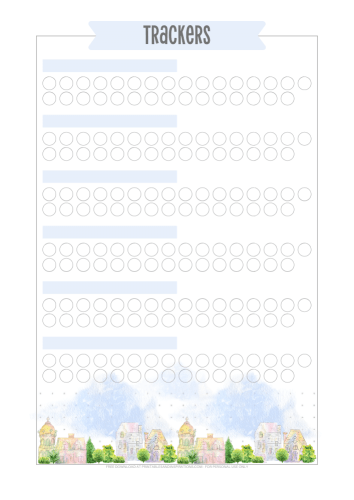 Habit tracker printable - Download the free printable stay home planner now! #freeprintable #stayhome #printablesandinspirations #bulletjournal #habittracker