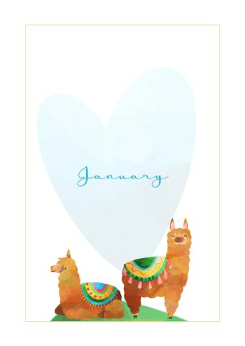 Free Printable Llama Planner And Stickers - cute llama planner or bullet journal printables and planner stickers #freeprintable #printablesandinspirations #llama #bulletjournal