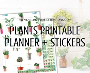 Free Printable House Plants Planner - plants planner stickers, monthly calendar, habit tracker, and other bullet journal printable pages. #freeprintable #printablesandinspirations #planneraddict #bulletjournal #plannerstickers #houseplants GO TO PREVIOUS POST TO DOWNLOAD
