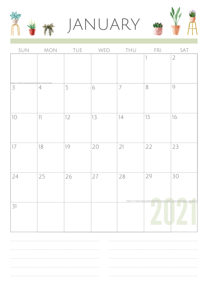 January 2021 planner - green free printable calendar #printablesandinspirations SEE PREVIOUS POST TO DOWNLOAD THE FREE PDF FILE