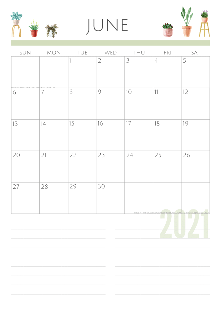 June 2021 planner - green free printable calendar #printablesandinspirations SEE PREVIOUS POST TO DOWNLOAD THE FREE PDF FILE