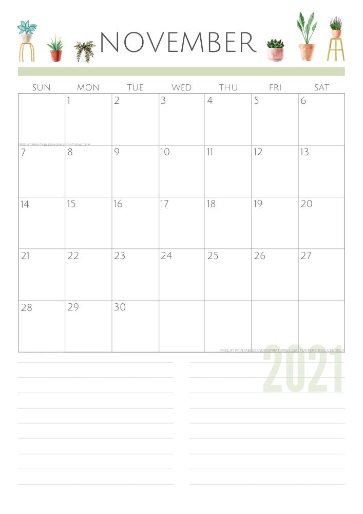 November 2021 planner - green free printable calendar #printablesandinspirations SEE PREVIOUS POST TO DOWNLOAD THE FREE PDF FILE