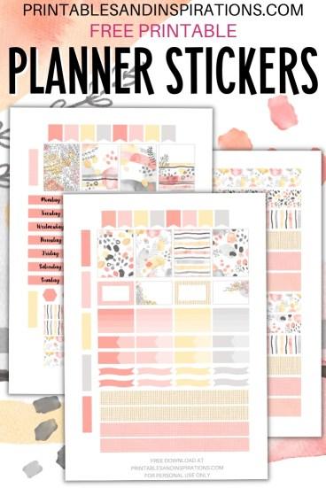 Free Printable Planner Stickers - autumn orange and gray #printablesandinspirations #bulletjournal #planneraddict #freeprintable #plannerstickers